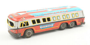 Vintage-Japanese-Tinplate-Friction-Drive-National-Trailways-Express-Bus-1960s
