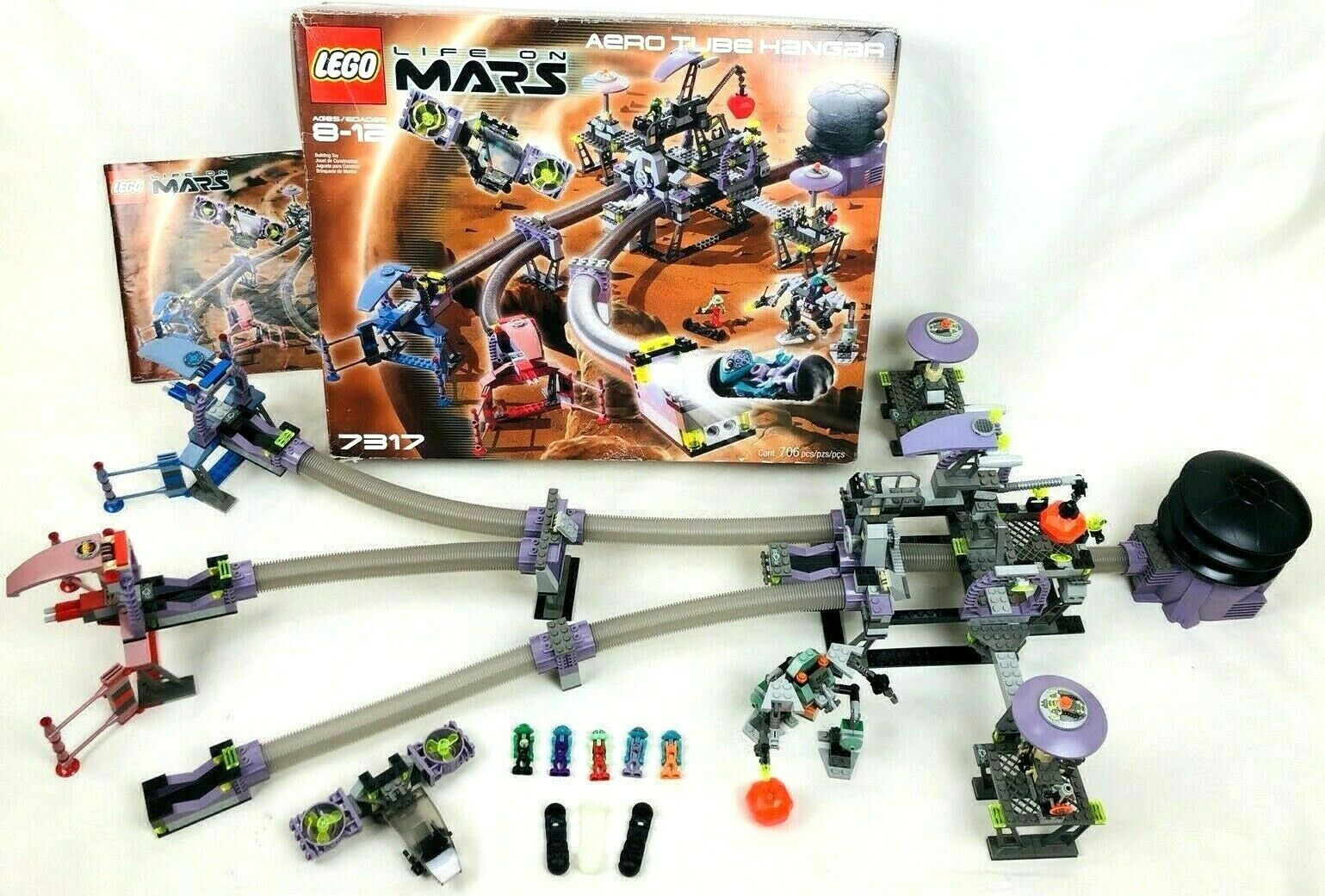 LEGO 7317 Space Life On Mars Aero Tube Hanger w  Box 100% Complete & Correct
