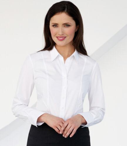 Brook Taverner Sizes 8-20 Ladies Palena Long Sleeve Poplin Shirt
