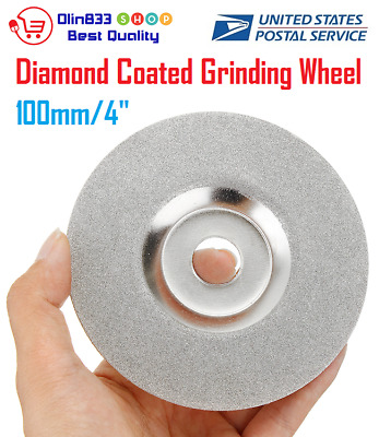 """100mm 4/"""" Diamond Coated Grinding Cup Wheel Disc Carbide Grinder Rotary Tool"""