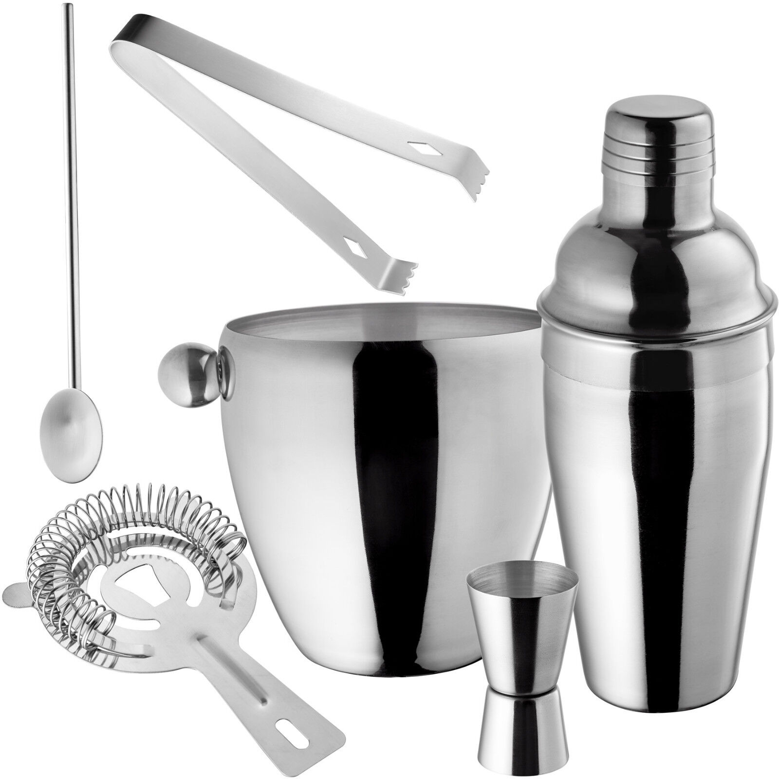 Bloomingville Cocktail Shaker Glas//silber H22 cm Cocktail Mixer