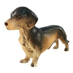 Lefton China Dachshund Figurine Porcelain Hand Painted Dog H04407 Japan Vintage