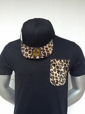 Bare Fox T-shirt Black CheetaPrint T-Shirt plus Snapback Twenty6/BareFox