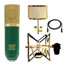 MXL V67-MD1G V67Gs Studio Bundle w/ USM-001-G Shock Mount PF005-G Filter Cable