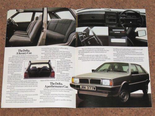 1980-81 LANCIA DELTA 1500 VENDITE UK OPUSCOLO del mercato