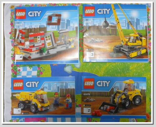 2-3 Set 60076-1 4  neu Zustand 1-2 Lego City Bauanleitungen 4er