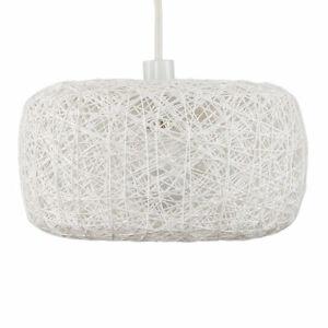 MiniSun-Easy-Fit-Rattan-Lounge-Living-Room-White-Ceiling-Pendant-Shade-LED-Bulbs