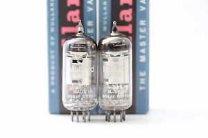 2-X-EF92-TUBES-MULLARD-NOS-NIB-SQUARE-GETTER-1950-s-HIGH-QUALITY-CRYOTREATED