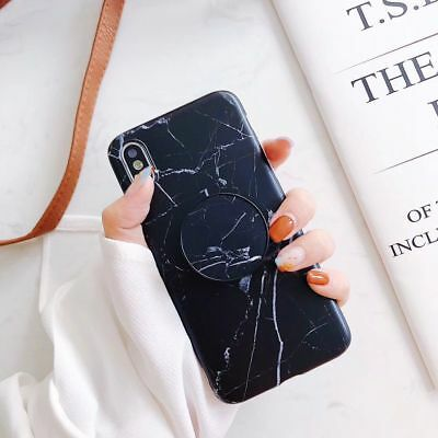 CHIC Marble Put Up Holder Stand Case Cover For iPhone XS Max XR 6 7 8 Plus 6s