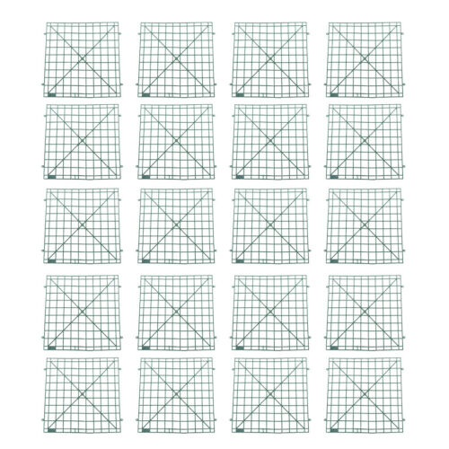 """20Pc Plastic Grid Plant Wall Frames Panels Flowers Wall Arches Backdrop DIY 8.6/"""""""