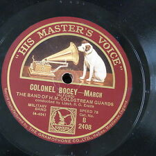 78rpm BAND OF COLDSTREAM GUARDS colonel bogey / youth and vigour