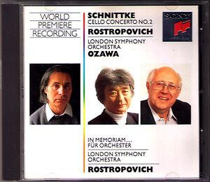 Mstislav-ROSTROPOVICH-SCHNITTKE-Cello-Concerto-No-2-In-Memoriam-Seiji-OZAWA-CD