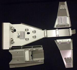 YAMAHA-YFZ450R-FRAME-SKID-PLATE-160-amp-A-ARM-PLATE-SET-125-amp-SWINGARM-SKID-190