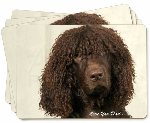 Irish Water Spaniel 'Love You Dad' Picture Placemats in Gift Box, DAD59P