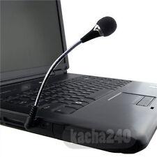 Computer Desktop For Laptop PC Small 3.5mm Microphone Mic Mini Black Plug