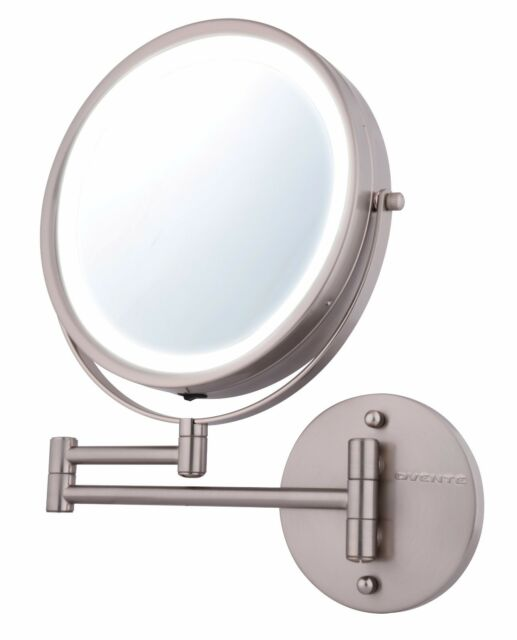 Ovente Wall Mount Makeup Mirror Battery Operated Led Lighted Ebay