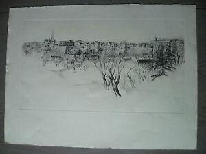 épreuve d\'artiste René William THOMAS flan de vieille ville de ...