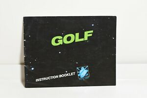 GOLF-Manual-Only-Nintendo-Entertainment-System-NES-Instruction-Booklet-Only