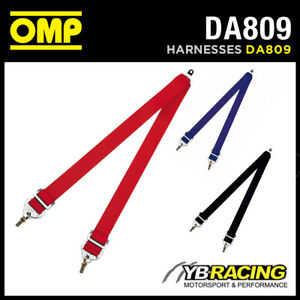DA809-OMP-V-LEG-HARNESS-2-034-LAP-STRAPS-TO-CONVERT-INTO-6-POINT-with-EYEBOLT-FIX