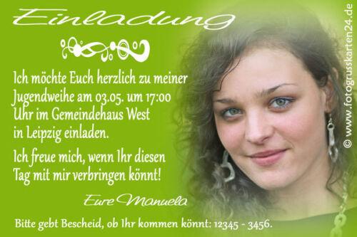 Kuverts Jugendweihe Einladungen Jugendfeier Einladungskarten  Foto inkl