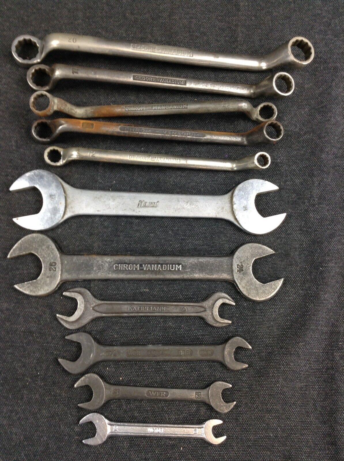 Alte Maulschlüssel Ringschlüssel HAZET GEDORE DDR Bordwerkzeug Auto Werkzeug