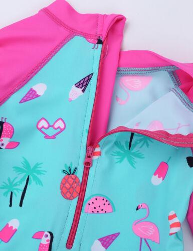 Rash Guard Suit Kids Baby Girls Tankini Suit Swimsuit Swimwear Beachwear UPF 50