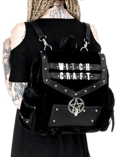 Sac Faux Fourrure Restyle Punk École À Gothique Sorcellerie Dos Pentagramme OwCCxq18