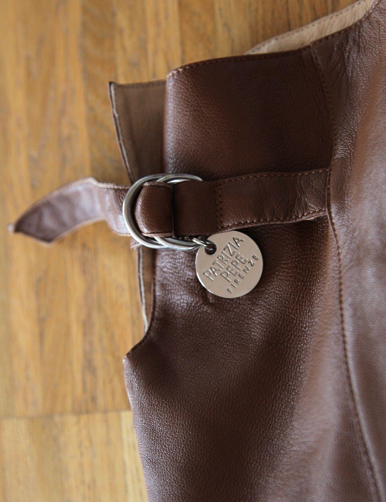 Patrizia Pepe Stiefel Overknees aus Leder Leder Leder Braun Gr. 40   bd9488