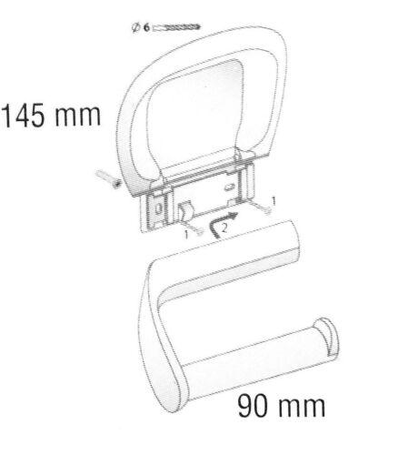 WC Rollenhalter Papierabroller Toilettenpapierhalter Klopapierstange weiß