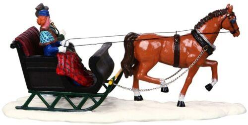Navidad Lemax decoración escénica Trineo Paseo Caballo Modelo Figura De Decoración De Pasteles