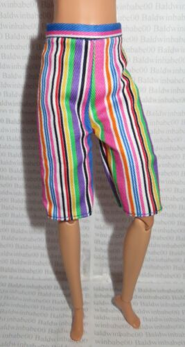 PANTS ~MATTEL BARBIE DOLL TALL MADE TO MOVE BMR1959 BOLD STRIPED SHORTS CLOTHING