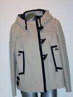 WoW wollweißer MARINA YACHTING Dufflecoat Kurz-Mantel Jacke Gr. 34 36 38 40  NEU