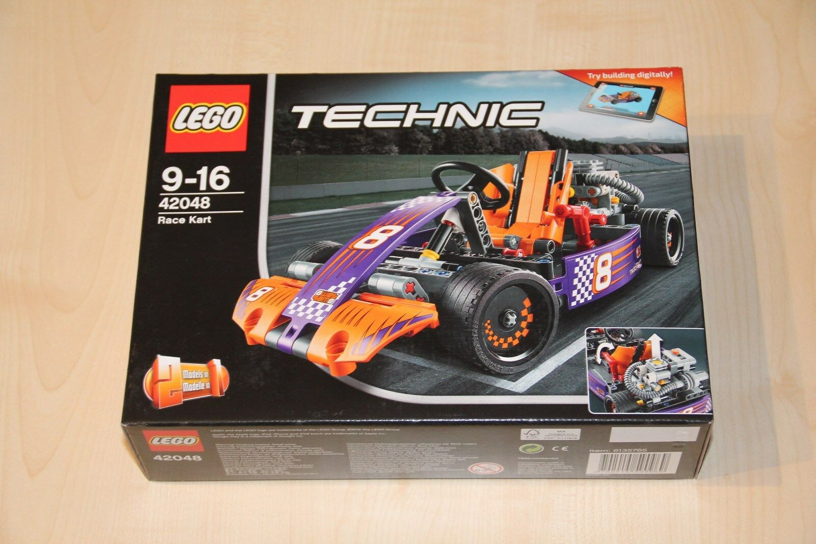 LEGO Technic Renn-Kart   Rennwagen 2-in-1-Modell (42048) NEU+OVP ☺Top Zustand☺