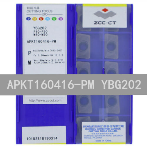 ZCC.CT APKT160416-PM YBG202 CNC Carbide Inserts 10Pcs