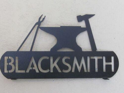 BLACKSMITH ANVIL SIGN MAILBOX TOPPER TEXTURED BLACK POWDER COAT FINISH