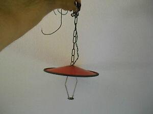 Ancien-Abat-Jour-Tole-Ancienne-Suspension-Lampe-Eclairage