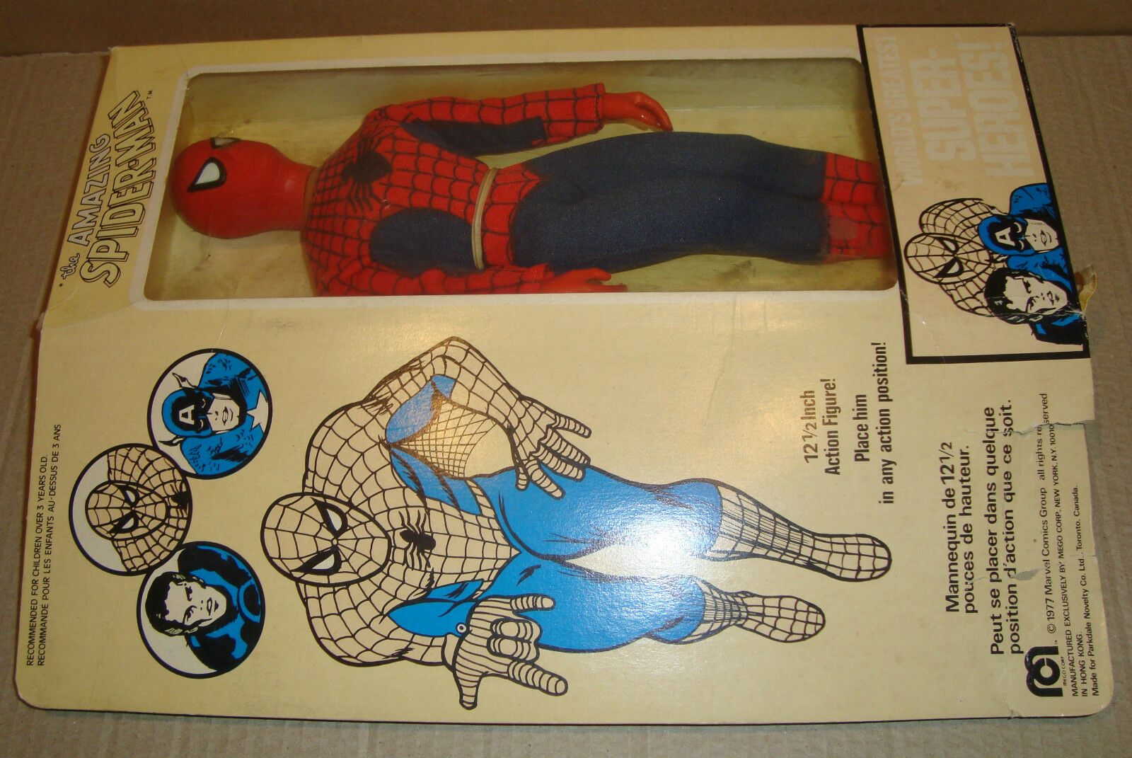 Mego World's Greatest Super-Heroes The Amazing Spider-Man 12 1 2 Inch Mego Corp