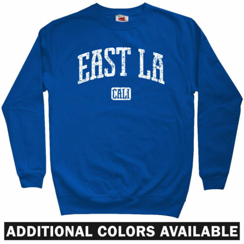 East LA Los Angeles Sweatshirt Men S-3XL Lakers Dodgers Rap Chicano Crewneck