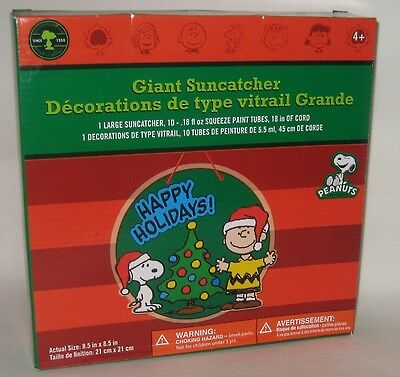 PEANUTS SNOOPY CHARLIE BROWN WOODSTOCK SUNCATCHERS HOLIDAY CHRISTMAS DECORATIONS