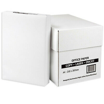 EVERYDAY A4 WHITE PAPER 80GSM PRINTER COPIER1 2 3 4 5 REAMS OF 500 SHEETS