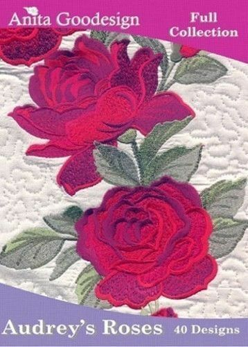 Anita Goodesign Audrey/'s Roses Embroidery Machine Design CD NEW 58AGHD