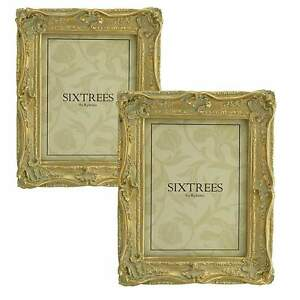 TWINPACK-Very-Ornate-Shabby-Chic-Antique-Gold-Photo-Frames-for-8-034-x6-034-Pictures