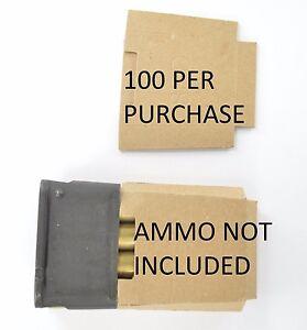 100X M1 Garand USGI 8RD enbloc clip cardboard Inserts Silencers Bandoleer