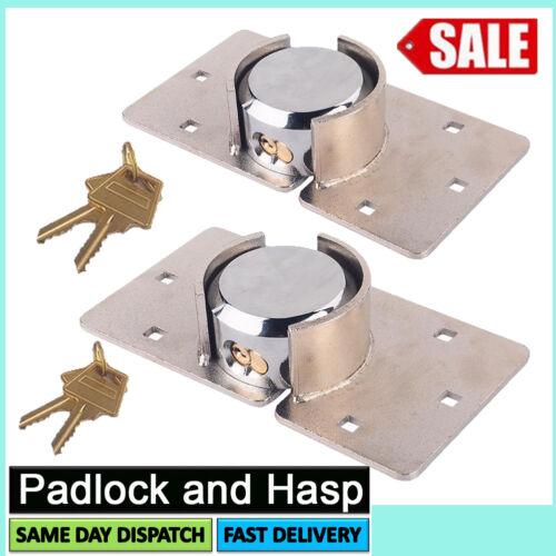 73MM HEAVY DUTY STEEL VAN HIGH SECURITY PADLOCK /&HASP SET DOOR LOCK NUTS BOLTS