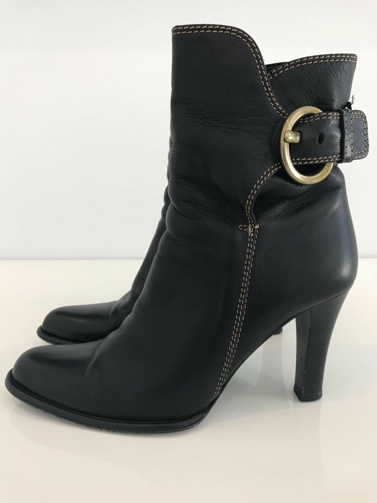 COACH NANCIE BLACK SOFT CALF LEATHER BOOT STYLE 920254 SIZE US 7.5