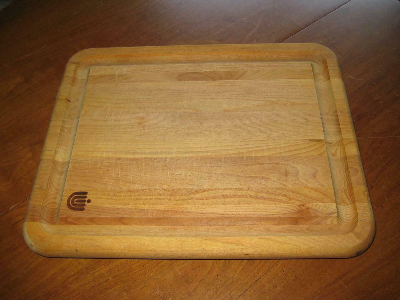 Vintage en bois massif à découper de Boucher Bloc Planche à découper W Pieds Pieds 16 X 20