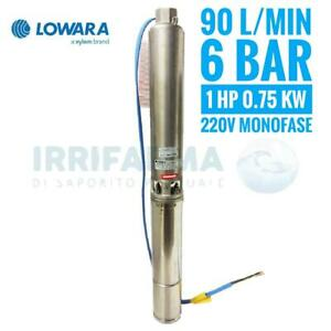 Elettropompa-sommersa-Lowara-1-Hp-4GS-07-MONOFASE-Kw-0-75-pompa-per-pozzo
