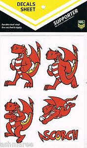 NRL-St-George-Illawarra-Dragons-Mascot-Scorch-Car-Tattoo-Sticker-iTag-Decal