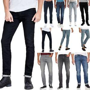 New-Jack-and-Jones-Men-039-s-Slim-Fit-Jeans-Stretch-Denim-Basic-5-Pocket-Black-Blue