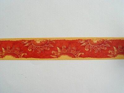 2 Bordüren 2 Bordüren Bordüre selbstklebend 12,5cmx5m Allover Leaf  62636